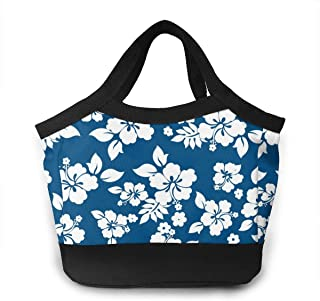 NiYoung Lunch Bags for Women&Men Insulated Lunch Box for Lunch Cooler Tote Aloha Hawaiian Floral