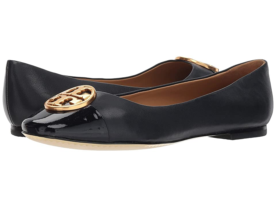 6c67cb1dd61bef Tory Burch Chelsea Cap-Toe Ballet (Perfect Navy Perfect Navy) Women s Shoes