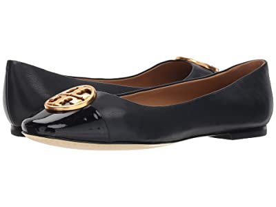 Tory Burch Chelsea Cap-Toe Ballet (Perfect Navy/Perfect Navy) Women