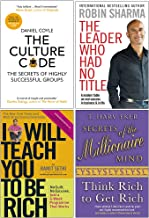 The Culture Code, The Leader Who Had No Title, I Will Teach You To Be Rich, Secrets of the Millionaire Mind 4 Books Collec...