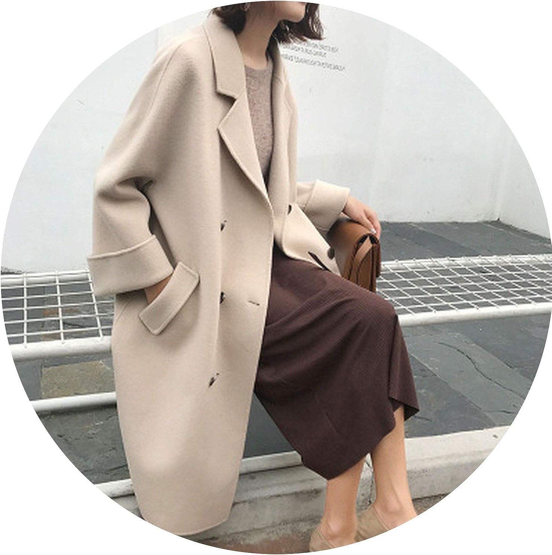 SurpriseShow Women Coats Winter Clothing Keep Warm Long Section Leisure Slim fit Woolen Coat Coat