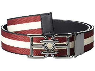 Bally B Chain 35 M.T/993 Belt (Black/Bone/Red) Men