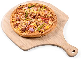 Pizza Peel, Premium Bamboo Pizza Spatula Paddle Cutting Board Handle (Baking Pizza, Bread, Cutting Fruit, Vegetables, Cheese)