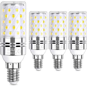 E14 LED Maíz Bombillas 12W AC85-265V 1000LM, 100W incandescente bombillas equivalentes, Blanco Cálido 3000K Candelabro Bombillas LED Lámpara, 4Piezas: Amazon.es: Iluminación
