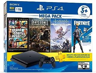 Paquete PlayStation 4 Slim 1 TB (Mega Pack) con 3 juegos (Ho