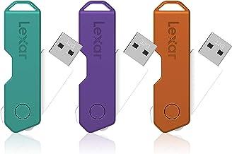 Lexar JumpDrive TwistTurn2 USB 2.0 Flash Drives, 32GB, Pack of 3 Flash Drives, LJDTT2-32GABNA3