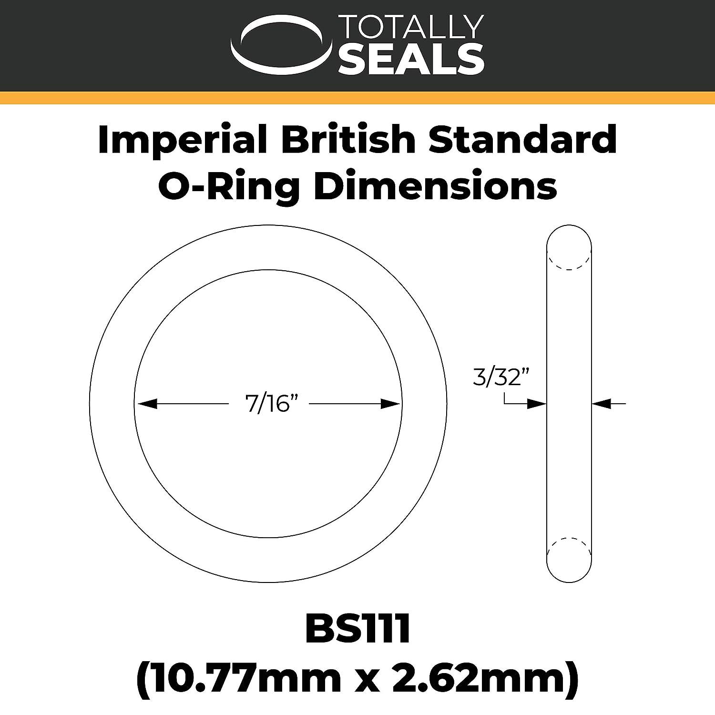 juntas t/óricas de nitrilo 1//2 x 3//32 British Standard Imperial Black Rubber m/étrica 70A 17,61 mm OD BS112 12,37 mm x 2,62 mm