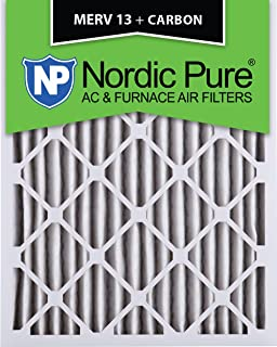 Nordic Pure 13x21/_1//2x1 Exact MERV 8 Pleated AC Furnace Air Filters 1 Pack
