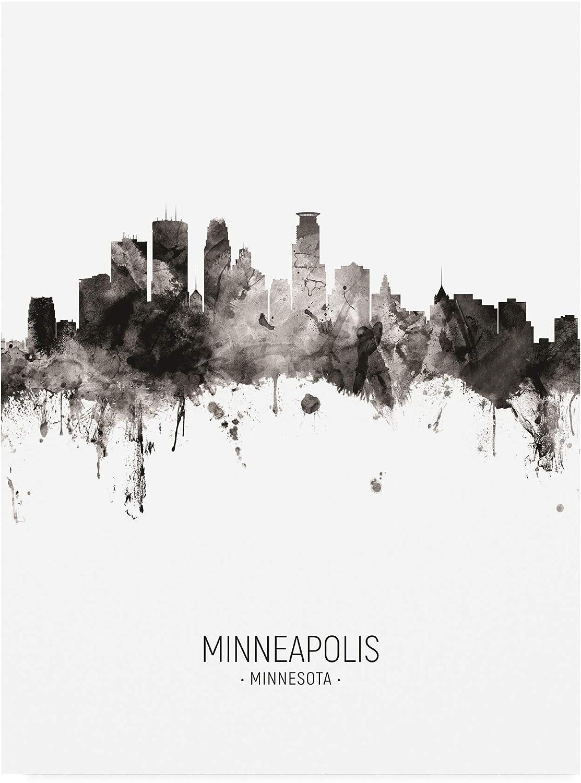 Trademark Fine Art Minneapolis Minnesota Skyline Portrait II