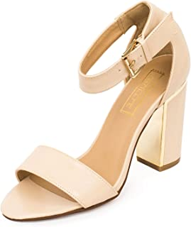 TRUFFLE COLLECTION Women's Beige Synthetic Fashion Sandals