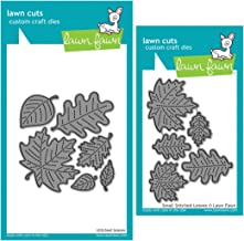 Lawn Fawn Stitched Leaves Dies - Small and Large - Two Item Bundle