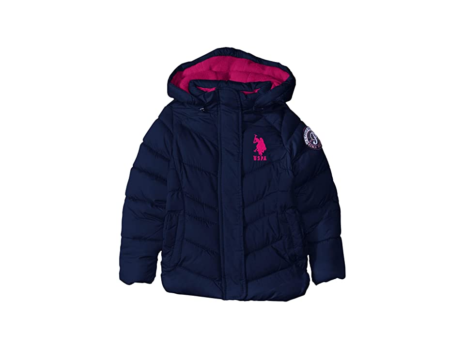 U.S. POLO ASSN. Kids Bubble Jacket (Big Kids) (Navy) Girl