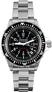 Marathon Watch WW194007 Tsar Swiss Made Military Issue Milspec Diver's Quartz Watch with Tritium Illumination and Sapphire Crystal (41 mm) - Available or Rubber Strap or Stainless Steel Bracelet