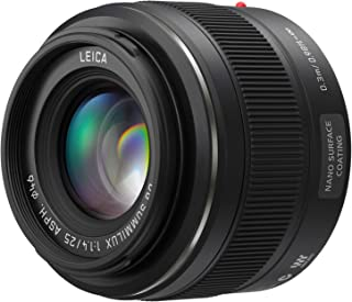 PANASONIC LUMIX G Leica DG SUMMILUX Lens, 25mm, F1.4 ASPH, Mirrorless Micro Four Thirds, H-X025 (USA Black)