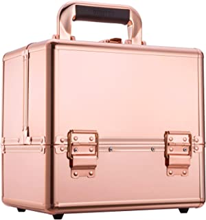 Ollieroo Makeup Train Case Rose Gold 9.8