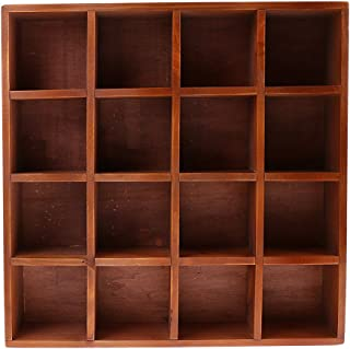 Dolity Wooden Storage Cabinet Cubes Case Box Wall Mount Shelf Grids for Displaying for Small Items, Flower Vase, CDS, Books