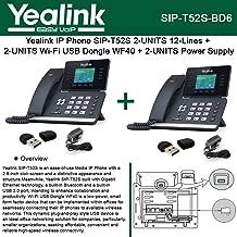Yealink SIP-T52S 2PACK IP Phone + 2PACK Wi-Fi USB WF40 + 2PACK Power Supply