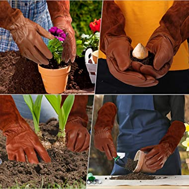Gardening Gloves for Women and Men, Rose Pruning Thorn Long Protection Gloves
