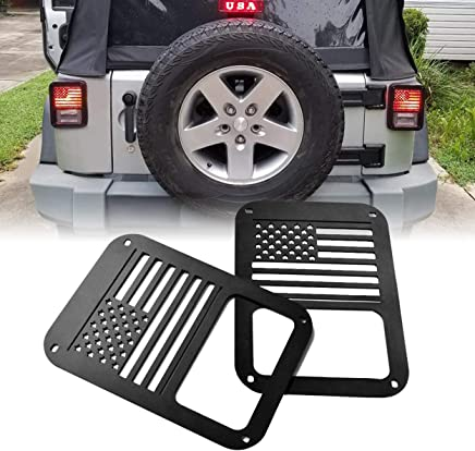 Allinoneparts USA Set Third Brake Light Cover Decal Accessories Set for Jeep Wrangler JK JKU 2007 2008 2009 2010 2011 2012 2014 2013 2014 2015 2016 2017 2018