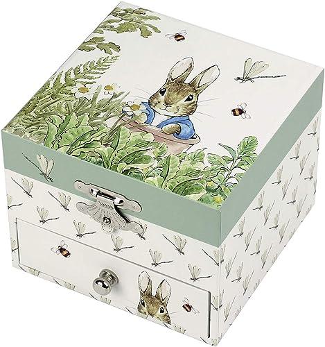 TROUSSELIER - Pierre Lapin - Peter Rabbit - Boîte à Trésors & Bijoux Musicale - Idéal Cadeau Enfant - Musique Lullaby...