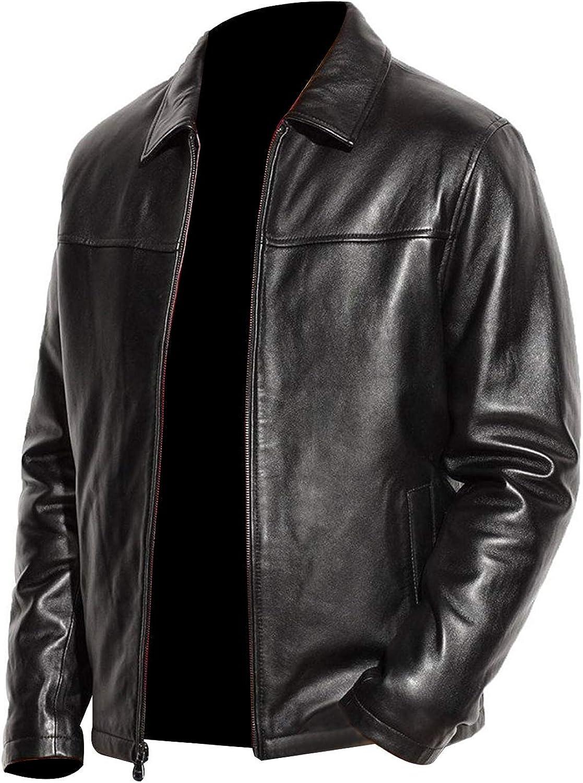 Genuine soft Leather Best winter jacket quilted inside Black color Real Sheep Leather jacket