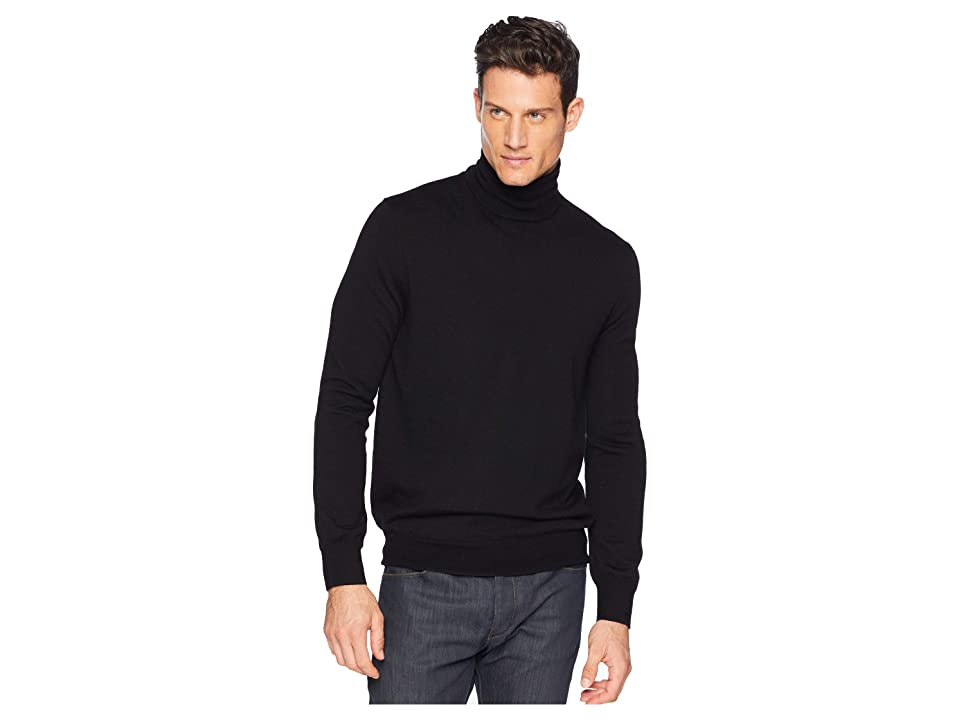 Polo Ralph Lauren Washable Merino Turtleneck Sweater (Polo Black) Men