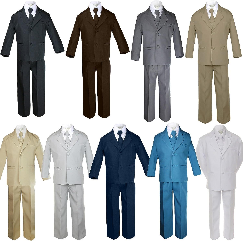 Unotux 5pc Baby ディスカウント Toddler 割引も実施中 Boy Formal Suit Brown Khaki G Gray Black
