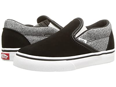 Vans Kids Classic Slip-On (Infant/Toddler) ((Suede) Suiting/Black) Boys Shoes