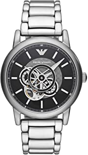 Emporio Armani Men's Luigi AR60021 Silver Stainless-Steel Automatic Self Wind Dress Watch