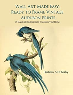Wall Art Made Easy: Ready to Frame Vintage Audubon Prints: 30 Beautiful Illustrations to Transform Your Home