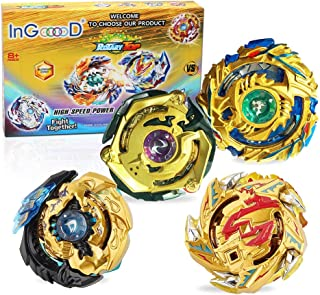 Ingooood Metal Master Fusion Gyro Toys for Kids, 4X High Performance Tops Attack Set with..
