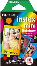 Fujifilm Instax Mini Rainbow Instant Film (Multi-Color, 10 Photos per Pack)