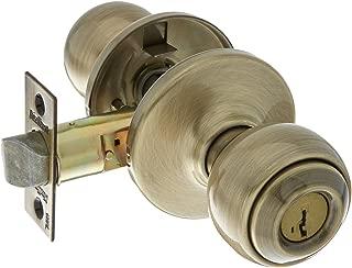 Kwikset 400P-5S Polo Entry Door Locks Smart Key Antique Brass Finish