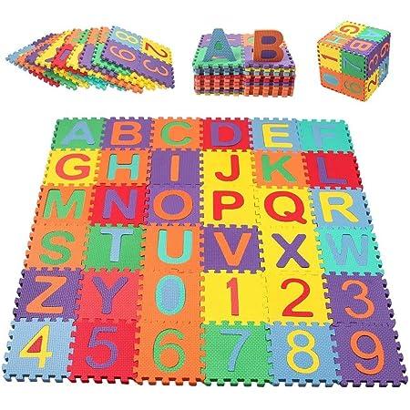 alfombra de juegos para ni/ños Estink Alfombra de puzzle de espuma para juegos de ni/ños 12 x 12 cm alfombra rompecabezas de goma EVA 36 piezas multicolor