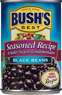 Bush's Best Seasoned Black Beans, 15 oz (12 cans)