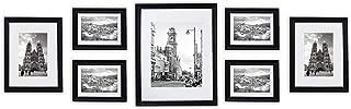 Golden State Art, Wall Frames Collection, Black Wood Frame Set for Pictures/Photos, 7 Frames