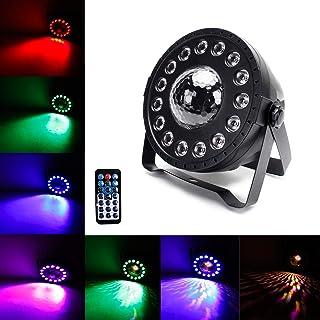 Luces de Discoteca, UKing 3W RGB Bola Discoteca y 15LED Par LED Luz de Escenario con Efecto 2 en 1, para Fiestas en el Hogar, Bares, Fiestas de Cumpleaños y Otras Fiestas