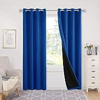 Deconovo 100-Percent Blackout Curtains, 2 Panels 52 x 95-in