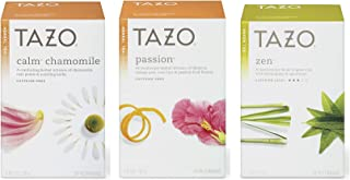 Tazo Assorted Tea Sampler 20ct Calm Chamomile, Passion, Zen Green Tea, Pack Of 3