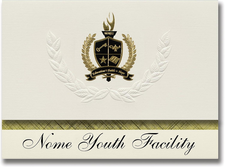 Signature Ankündigungen Nome Youth Werk (Nome, AK) Graduation Ankündigungen, Presidential Stil, Elite Paket 25 Stück mit Gold & Schwarz Metallic Folie Dichtung B078TT775S     Online-Exportgeschäft