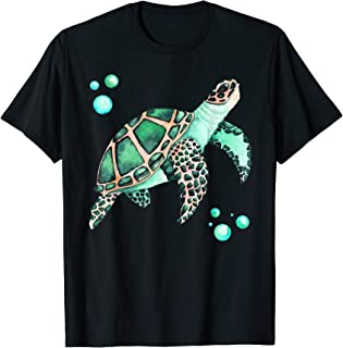 Big Sea Turtle, Hand Drawing Watercolor Illustration T-Shirt