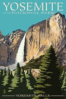 Yosemite National Park, California - Yosemite Falls (12x18 Art Print, Wall Decor Travel Poster)
