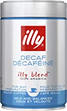 Illy decaffeinated ground coffee, 8.8oz can.