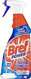 Bref Power gegen Kalk und Schmutz, Kalkreiniger, 750 ml, Sprühflasche, für hygienische Sauberkeit