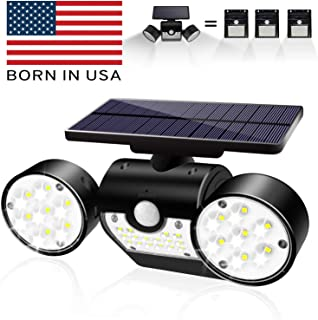 Solar Lights Outdoor, Bonitoys Solar Wall Lights Waterproof IP65 Solar Security Lights 360-Degree Rotatable, 30 LED Solar Motion Lights Outdoor for Yard Garden Garage Patio Porch