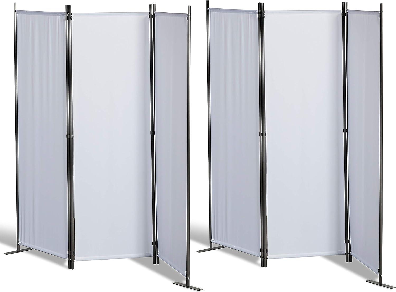 GRASEKAMP - Paravientos de Calidad Desde 1972, 2 Unidades, 3 Piezas, Separador de ambientes, Pantalla de privacidad, Color Blanco