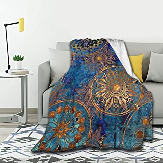 MYSTCOVER Art Deco Style Blanket Flannel Throw Lightweight Cozy Couch Bed Soft and Warm Plush Quilt 50X40for Kid