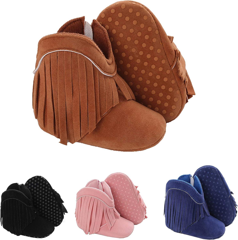 Infant Baby Girl Boots Shoes Warm Wool Snow Winter Anti-Slip Newborn Toddler Prewalker For 0-18 Months