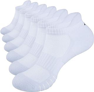 Anqier Running Socks Cushioned Anti Blister Sports Socks No Stink Trainer Socks for Men Women Cotton Ankle Ladies Socks Lo...