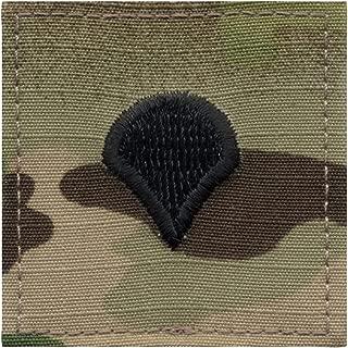 Authentic ACU MultiCam OCP Army Military Air Force Uniform Rank Insignia Hook Tab Patch - Genuine GI US Made
